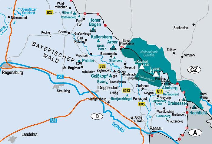 Dreiländereck Bayerischer Wald Karte.Hochficht Skigebiete Skigebiete Im Bayerischen Wald Zahlreiche